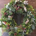 フレッシュグリーンのクリスマスリース